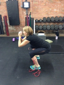 Photo #1- Andrea prenatal band squats